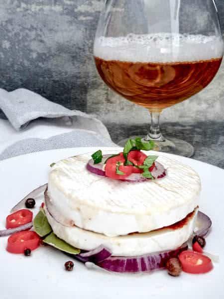 Marinated Camembert, Czech style.