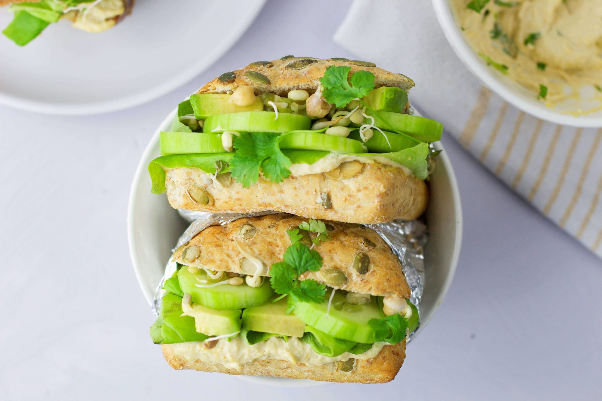 Easy green sandwich (VeGaN)