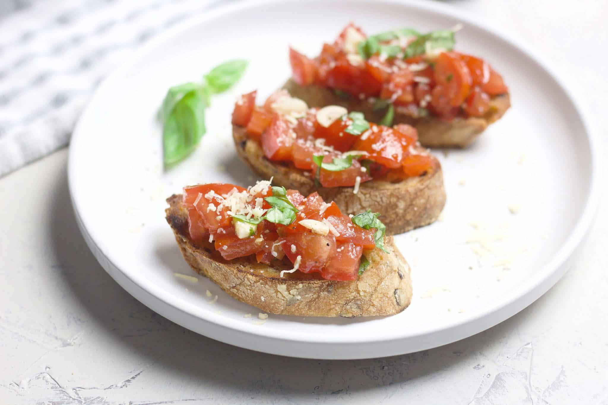 Classic bruschetta from fresh tomatoes