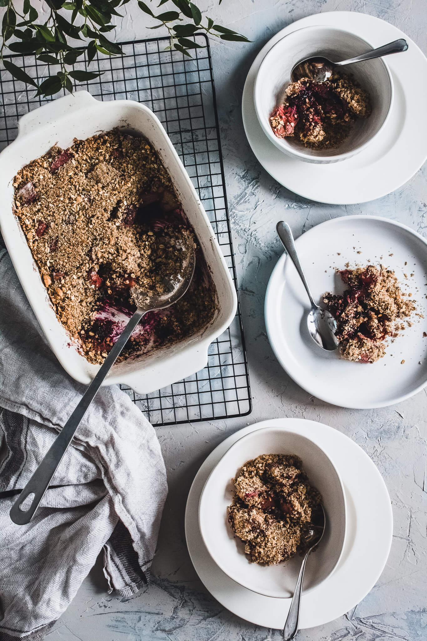 <strong>Sweet treat:</strong> Rhubarb under butter coffee crumble.